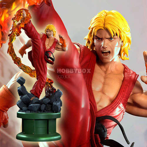 (예약마감) 켄 마스터(Ken Master) with Dragon Flame Ultra Statue / 스트리트 파이터(Street Fighter)