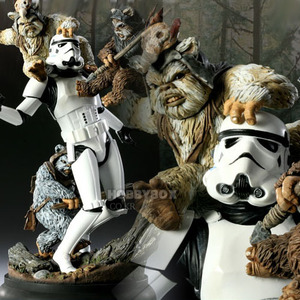 (예약마감) 스타워즈(Starwars) - Fall of the Empire - Ewoks VS Stormtrooper Diorama